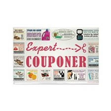 EXPERT COUPONER Rectangle Magnet