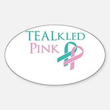 TEALkled Pink Sticker (Oval)