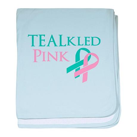 TEALkled Pink baby blanket