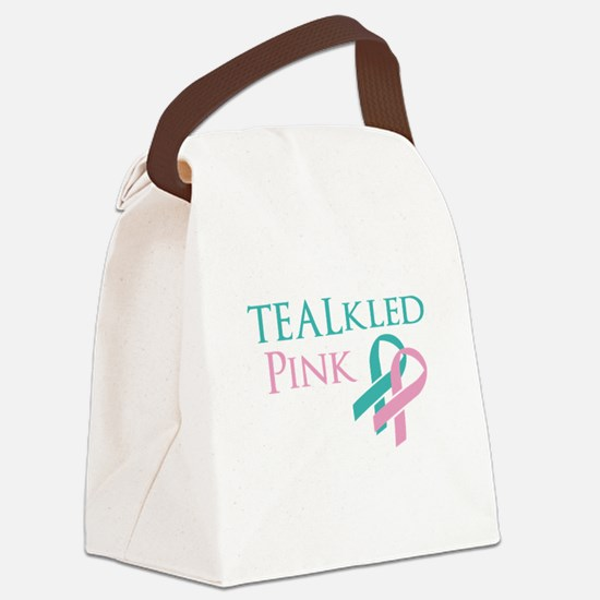 TEALkled Pink Canvas Lunch Bag