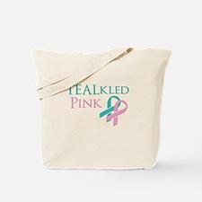 TEALkled Pink Tote Bag