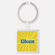 Eileen Sunburst Square Keychain