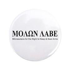 """Molon Labe (black on white) 3.5"""" Button (100"""