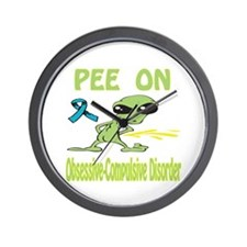Pee on O.C.D. Wall Clock