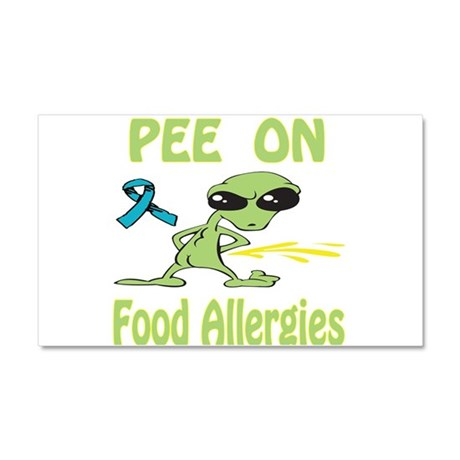 Pee on Food Allergies Car Magnet 20 x 12