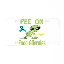 Pee on Food Allergies Aluminum License Plate