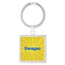 Dwayne Sunburst Square Keychain