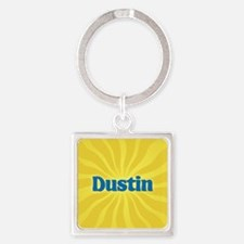 Dustin Sunburst Square Keychain