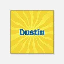 """Dustin Sunburst Square Sticker 3"""" x 3"""""""