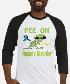 Pee on Anxiety Disorder Baseball Jersey