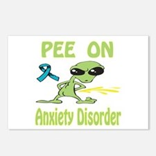 Pee on Anxiety Disorder Postcards (Package of 8)