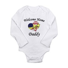 Welcome Home Daddy Patriotic Infant Creeper Body S