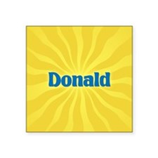 "Donald Sunburst Square Sticker 3"" x 3"""