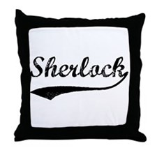 Vintage: Sherlock Throw Pillow