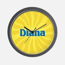 Diana Sunburst Wall Clock