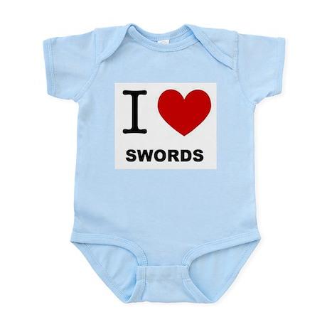 I Love Swords! Infant Bodysuit