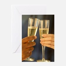 Champagne Hands Greeting Card