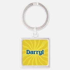 Darryl Sunburst Square Keychain