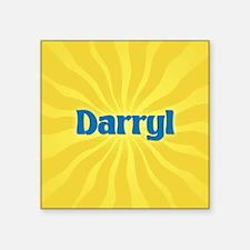 "Darryl Sunburst Square Sticker 3"" x 3"""