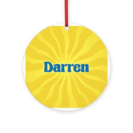 Darren Sunburst Ornament (Round)