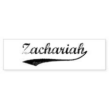Vintage: Zachariah Bumper Bumper Sticker