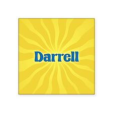"Darrell Sunburst Square Sticker 3"" x 3"""