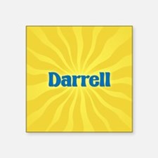"Darrell Sunburst Square Sticker 3"" x 3"""