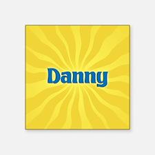 "Danny Sunburst Square Sticker 3"" x 3"""
