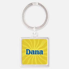 Dana Sunburst Square Keychain