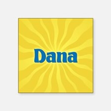 "Dana Sunburst Square Sticker 3"" x 3"""