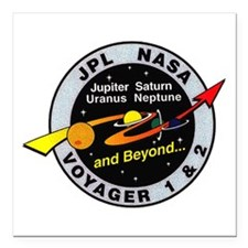 "Voyager 1 & 2 Square Car Magnet 3"" x 3"""