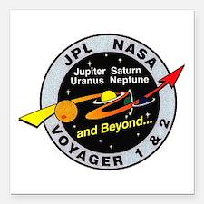 "Voyager 1 & 2 Square Car Magnet 3"" x 3"""