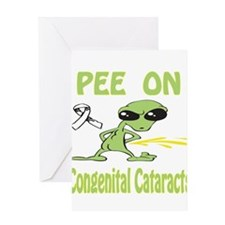 Pee on Congenital Cataracts Greeting Card