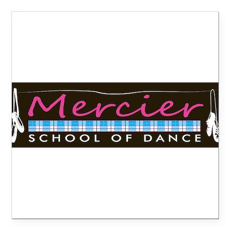 Dance logo Mercier School of Dance Square Car Magn
