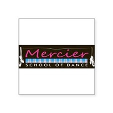 Dance logo Mercier School of Dance Square Sticker