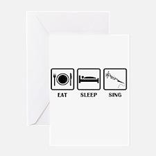 Eat, Sleep, Sing Greeting Card
