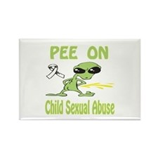 Pee on Child Sexual Abuse Rectangle Magnet