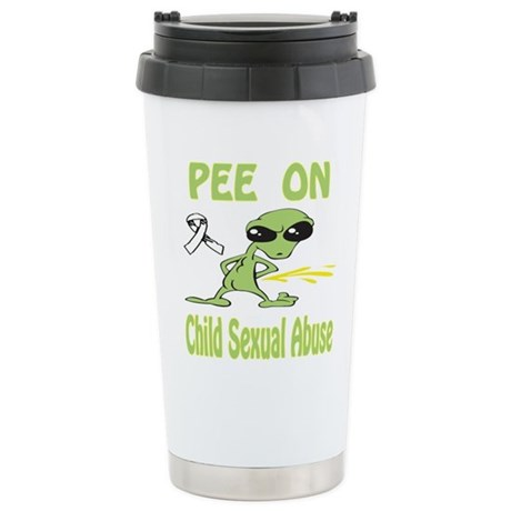 Pee on Child Sexual Abuse Stainless Steel Travel M