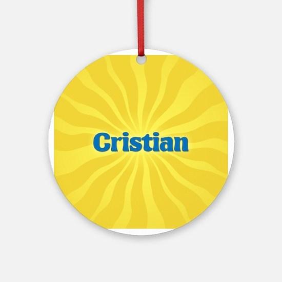Cristian Sunburst Ornament (Round)