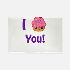 I Cupcake you Rectangle Magnet