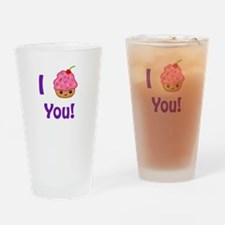 I Cupcake you Drinking Glass