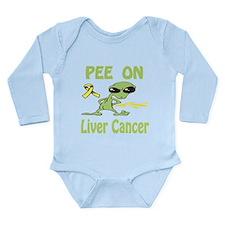 Pee on Liver Cancer Long Sleeve Infant Bodysuit