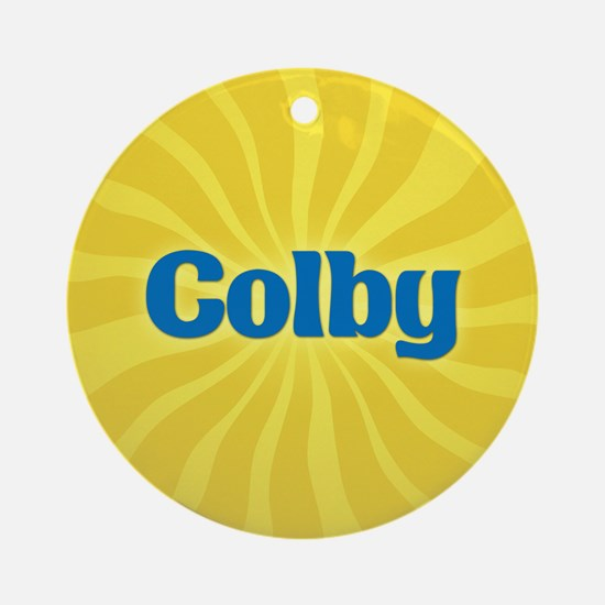 Colby Sunburst Ornament (Round)
