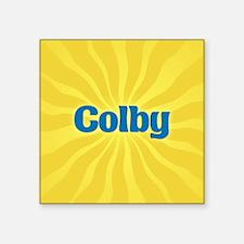 "Colby Sunburst Square Sticker 3"" x 3"""
