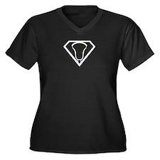 Lacrosse SuperLax Women's Plus Size V-Neck Dark T-