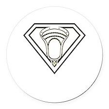 Lacrosse SuperLax Round Car Magnet