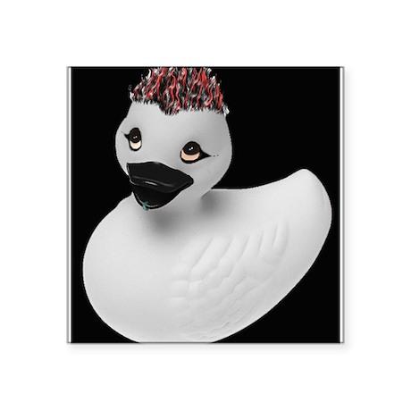"Goth Duck Square Sticker 3"" x 3"""