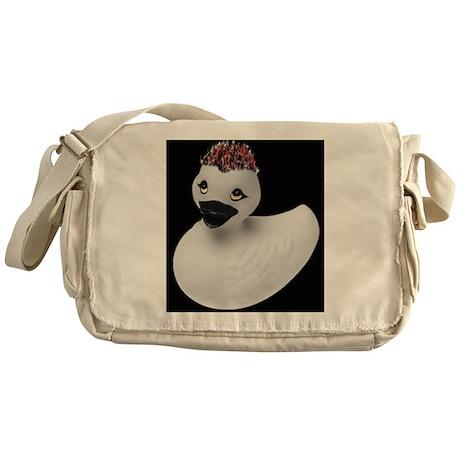 Goth Duck Messenger Bag