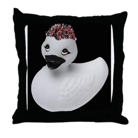 Goth Duck Throw Pillow