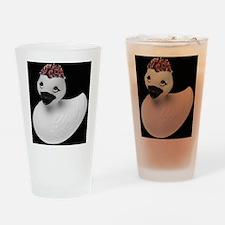 Goth Duck Drinking Glass